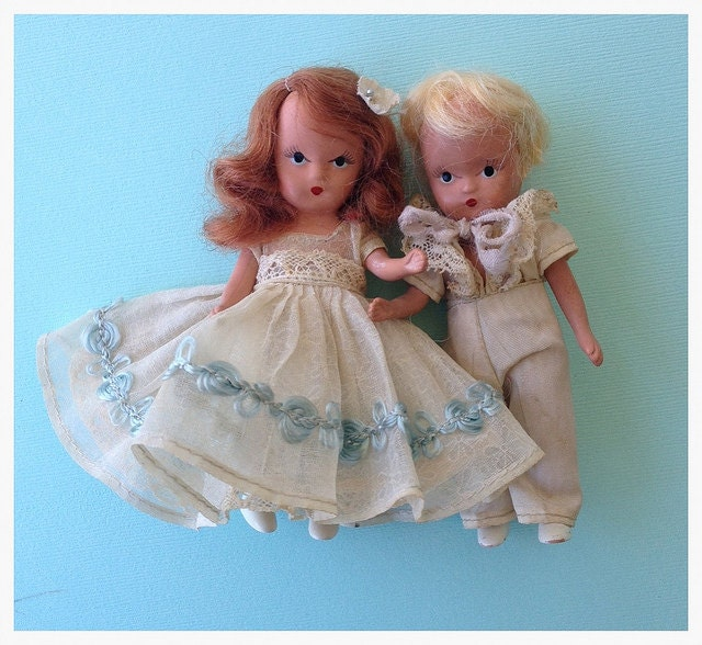 vintage nancy ann flower girl and ring bearer dolls tvat. Black Bedroom Furniture Sets. Home Design Ideas
