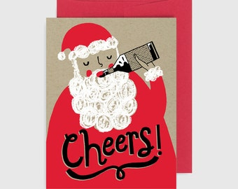 Holiday Card - Santa Cheers