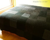 Modern Quilt Custom Made Handmade King Size Queen Size Double Twin Size Gothic Black Quilt Contemporary Quilt Fiber Art Quilts Goth Decor