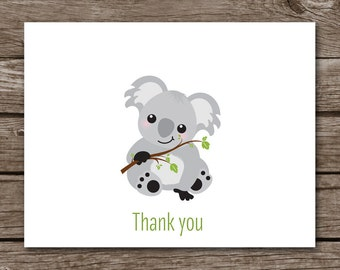 Koala Note Cards, Koala Cards, Notecards, Bear Note Cards, Bear Cards, Koala Stationery, Koala Stationary, Koala Thank You, PRINTABLE