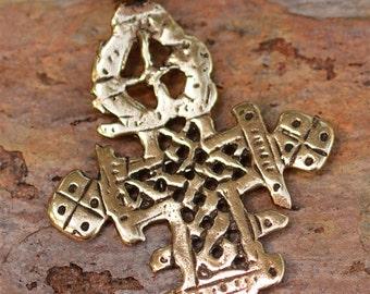 Ethiopian Cross in Gold Bronze, 295s