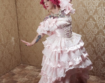 Ruffled Pink Princess Dress Size 4