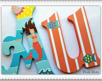 Teen Letters, Wooden Letters, Nursery Letters, Playroom Letters, Painted Wall Letter, Decorative Letters, Photo Prop Letter, Painted Initial
