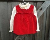 Red Velvet Dress 12/18 Months