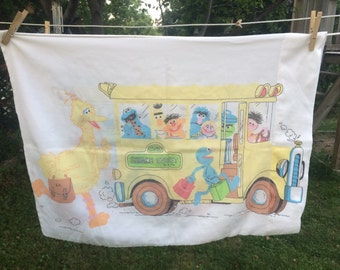 70s Sesame Street Pillowcase