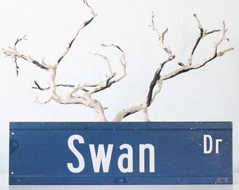 Vintage Swan Drive Street Sign