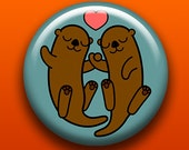 Otters - Button / Magnet / Bottle Opener / Pocket Mirror / Keychain - Cute Animal - Sick On Sin