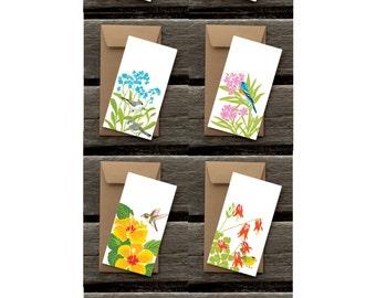 Birds in Gardens Assortment of Flat Panel Cards #4