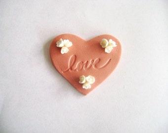 Wedding Favor Heart Magnet Bridal Shower Favour Set of 10 Made to Order
