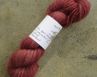 CLEARANCE** Sweetheart - sport weight mohair and wool hand spun and hand dyed yarn