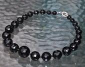 Custom order for Jordan- 5 Black Onyx Necklaces, 5 pairs of earrings