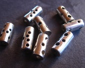 Moonwalk Straight beads in STERLING SILVER  2 beads   - 10mm X 5mm