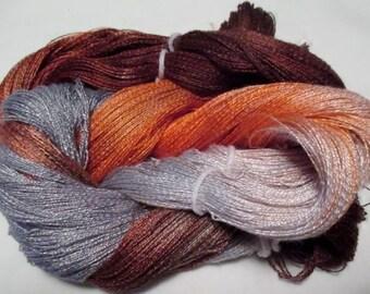 Hand dyed Tencel Yarn - 900 yds. Lace Wt. Tencel Yarn  HONEY BEAR