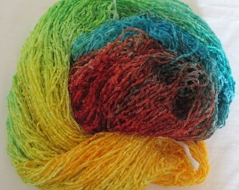 Handpainted Soft Rayon Chenille Yarn  FLOWER -  325 yds