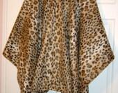 Leopard/Leopard Fleece Cape/Hooded Shawl/Wrap/Fall/Winter