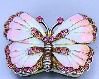 Pink Butterfly Trinket Box, Trinket Box