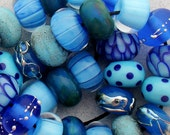 DSG-Debbie Sanders Glass Handmade Lampwork Beads (Made To Order) Blue By You