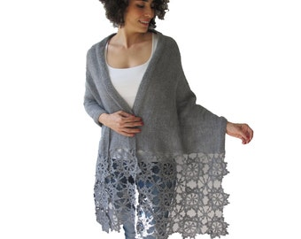 Shawl Hand Knitted Oversize Shawl