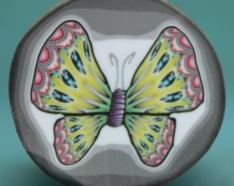 HALF PRICE SALE -Medium Polymer Clay Butterfly Cane -'Mystical Meadow' (23bb)