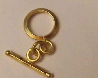 14kt gold filled toggle and bar clasp set