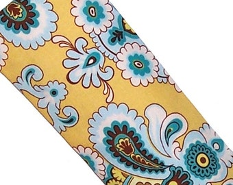 Eye Pillow, Eye Mask, Hot Cold Microwave Pack -  Floral, Amy Butler, Flaxseed Lavender - READY to SHIP