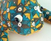Vintage Handmade Corduroy Fabric Stuffed Frog