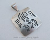 Sterling Silver Native American Pendant, Kokopelli Pendant Charm, Vintage Pendant, Necklace Pendant Charm