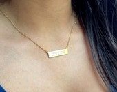 LABOR DAY SALE Morse Code Necklace Code Jewelry Hidden Message Necklace Gold Bar Necklace Bridesmaids Gift Mothers Jewelry