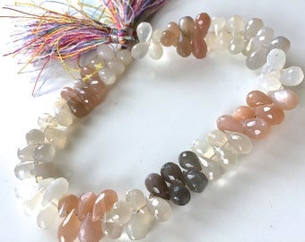 1/2 strand rainbow moonstone tear drops-  SUPER LOW PRICE 18.00