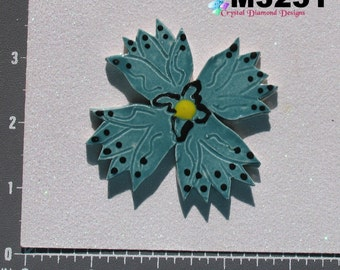 Flower - Kiln Fired Handmade Ceramic Mosaic Tiles M3251
