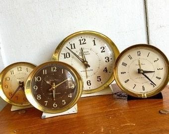 Tick Tock... Vintage Alarm Clock Big Ben Baby Ben Westclox Alarm Clock Instant Collection Mid Century Modern All Working