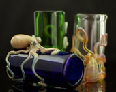 Octopus Shot Glass Hand Blown in You Choose the Color, Made to Order