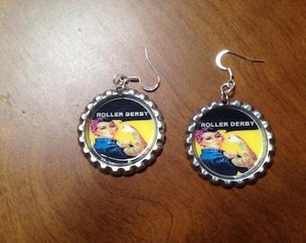 Roller Derby Earrings