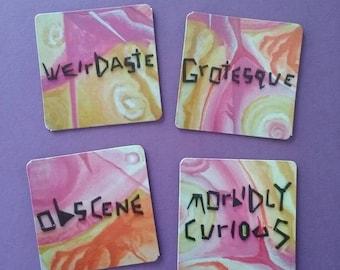 Dark Words Beautiful Colors 2 Inch Magnet