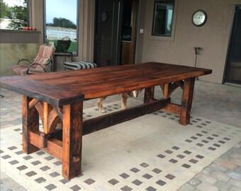 Farm Table HandMade out of Reclaimed Douglas Fir Barn Wood
