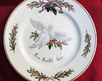 """FOUR Vintage """"All the Days of Christmas"""" 8 1/4"""" Plates, Set 4 DIFFERENT Dessert Plates,""""The Twelve Days of Christmas""""...Japan, Royal Gallery"""