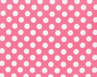 Pink Polka Dot fabric, Spot On Medium Dot in Pink, Valentine fabric, Girl fabric, Kids fabric, Quilt fabric- You Choose The Cuts