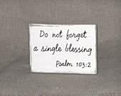Home Decor Wood Sign, Rustic Country Cottage Distressed, Scripture Quote Bible Verse Psalm 103 2, Minimalist Style, Christian Religious