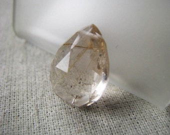 Gemstone Briolette Rutilated Smoky Quartz Teardrop Item No. 6440