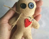Handmade Voodoo Doll/Poppet for Ritual, Meditation, Healing, Love, Binding, Etc.