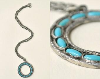 Southwestern Style Necklace --- 1960s Vintage Necklaces