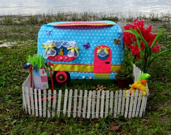 Sewing Pattern - Happy Camper Sewing Machine Cover Pattern DIGITAL DOWNLOAD