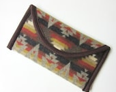 Wallet Clutch Bag Native American Print Blanket Wool  from Pendleton Woolen Mills Southwest Style