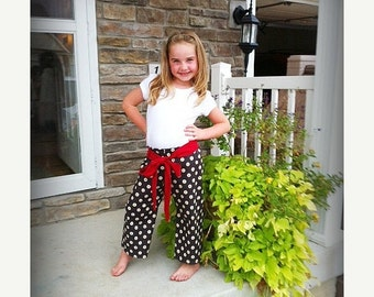 SALE Sewing Pattern to make Jump Around Pants easy, fast nb - 10 girls boys Instant