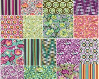 "Tula Pink CHIPPER Precut 5"" Charm Pack Fabric Quilting Cotton Squares Free Spirit"