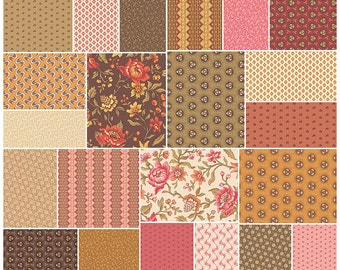 "SALE 30% Off SQ107 Jo Morton ISABELLA Precut 5"" Charm Pack Fabric Quilting Cotton Squares Andover 1800s Reproduction"