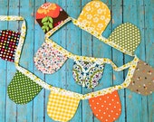 Colorful Scallop Fall Bunting, Garland