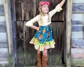 Pumpkin Pie Thanksgiving dress Momi boutique girl's dress