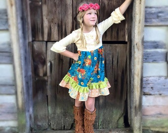 Pumpkin Pie Thanksgiving dress Momi boutique girl's dress