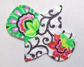 6.75 Inch (17 cm) light / liner - Reusable Cloth Menstrual Pad (6LC) - Bright Floral